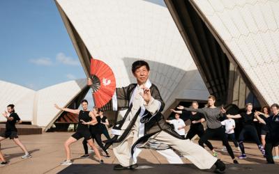 Tai Chi on Opera House Steps