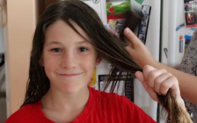 Kye's Hair for CF Fundraiser
