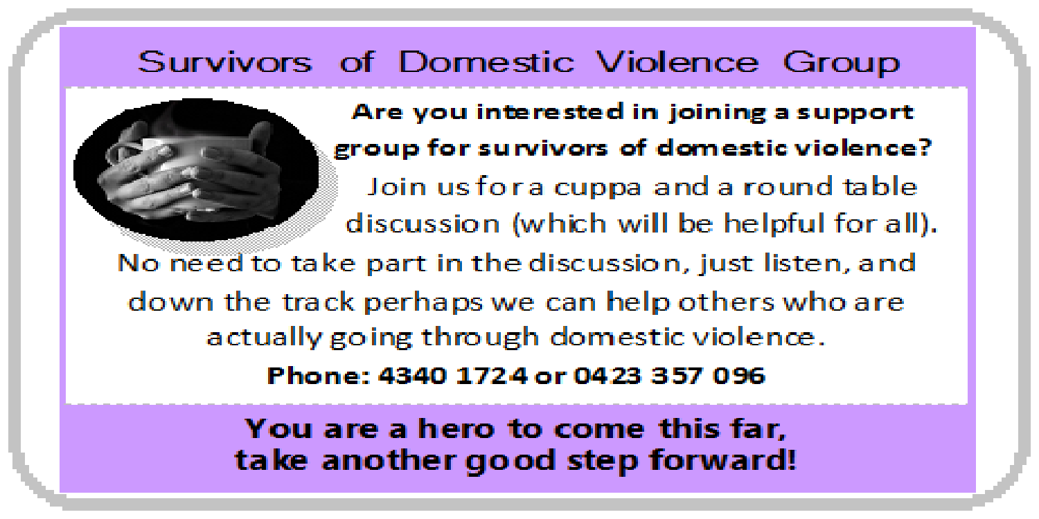 Survivors of domestic violence group