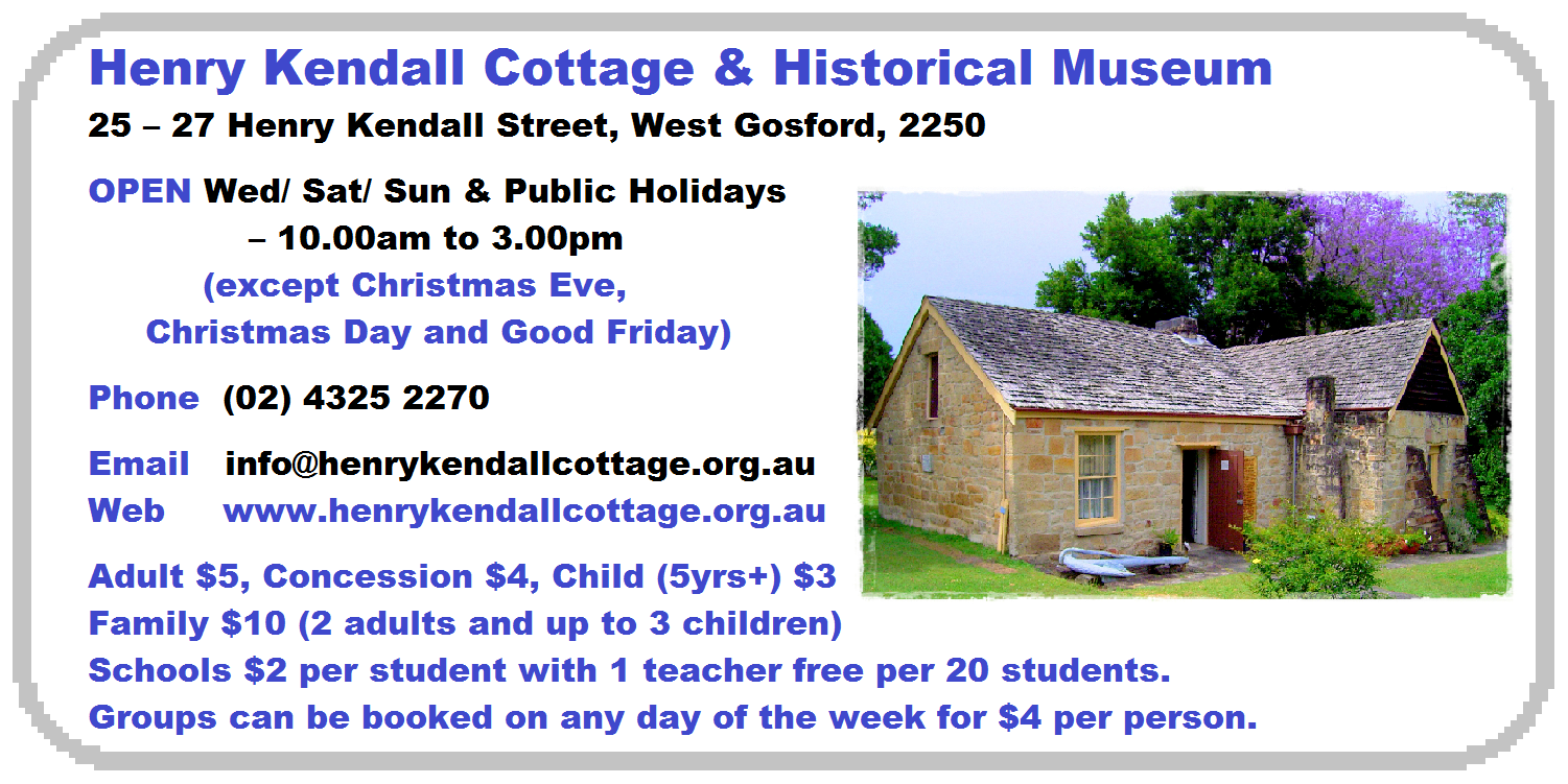Henry Kendall Cottage