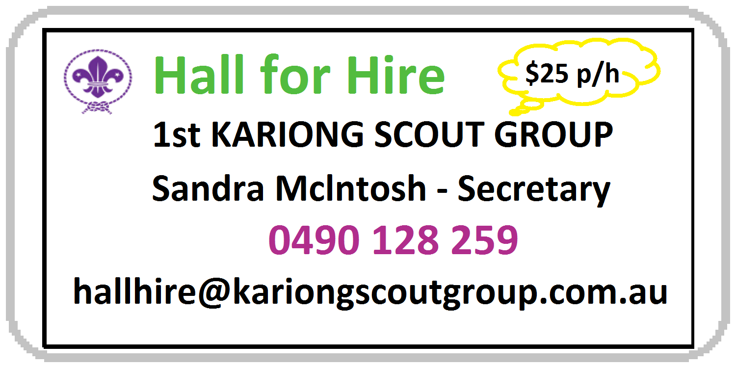 Hall hire (Kariong Scout Group)