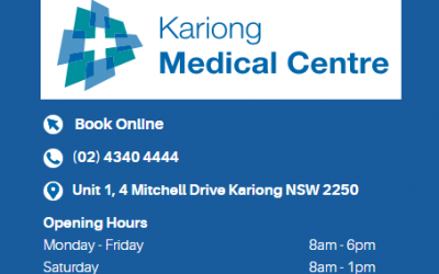 Happy Belated New Year from Kariong Medical Centre